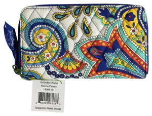 Vera Bradley Accordion Wallet in Marina Paisley