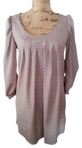 Peppermint short dress Dusty Pink with Blue Birds on Tradesy