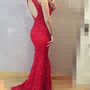 Elegant Red Evening Dress Wedding Dress