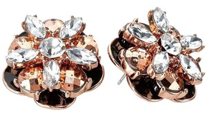 Kate Spade NEW!!! Tags Flower Stud Large Rose Gold Earrings
