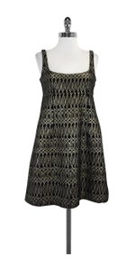 MILLY short dress Black Gold Jacquard Print on Tradesy