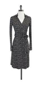 Diane von Furstenberg short dress Black & White Wrap on Tradesy