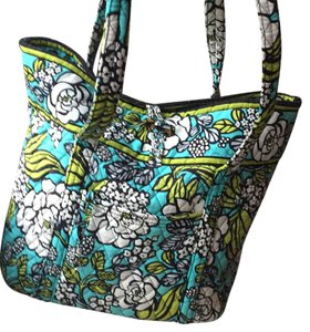 Vera Bradley Tote in turquoise, white, green, grey and black