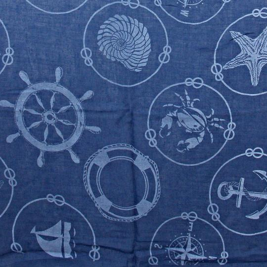 Other Nautical By The Sea Anchor Helm Sealife Scarf