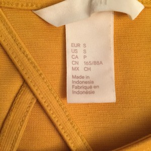 H&M short dress yellow on Tradesy