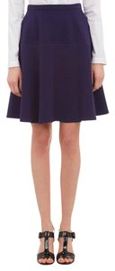 Carven Textured Skirt Navy blue