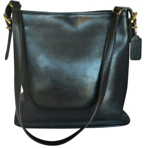 Coach Slim Leather Tote in Black