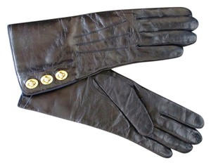 Coach Coach Women's Leather Turn-Lock Cashmere Lined Gloves 82825 SZ 6.5