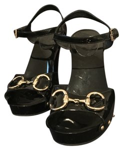 Gucci Black Platforms