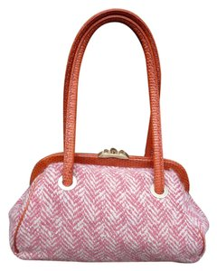 Ann Taylor Satchel in Pink White Salmon