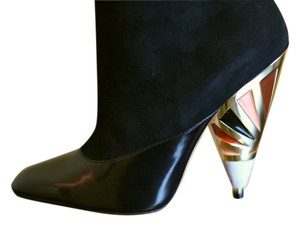 Givenchy Suede New Enamel-heel BLACK Boots