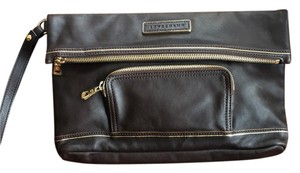 Longchamp Wristlet in brown and gold