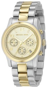 Michael Kors Michael Kors MK5137 Gold Dial Two Tone Stainless Steel Womens Watch