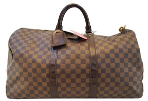 Louis Vuitton Lv Keepall 50 Damier Ebene Travel Travel Bag
