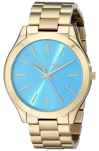 Michael Kors Michael Kors Womens Slim Runway Gold-Tone Stainless Steel Watch MK3265