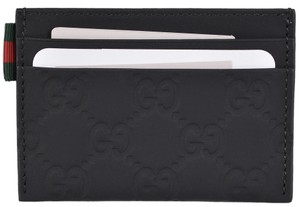 Gucci Gucci Men's 322190 Black Neoprene GG Guccissima Card Case