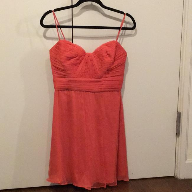 Item - Coral Silk G528c Feminine Bridesmaid/Mob Dress Size 4 (S)