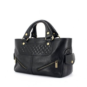 Céline Biker Bookie Satchel in Black