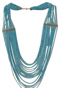 J.Crew Turquoise Beaded Necklace with Bronze Accents