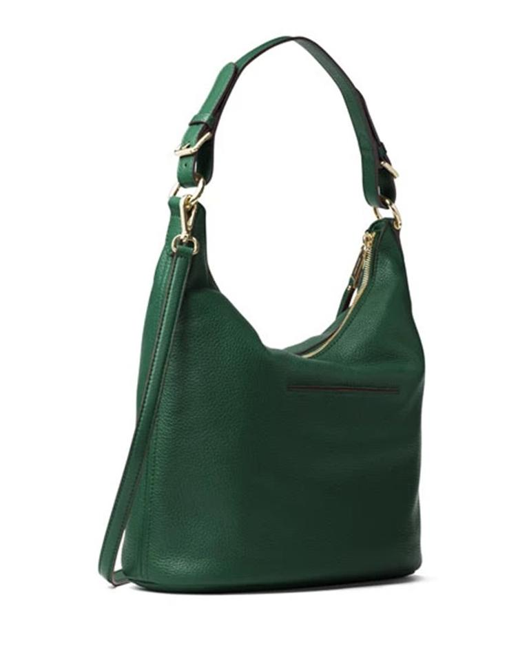 cc7a79e0aed1 MICHAEL Michael Kors Lupita Large Shoulder Moss Green Leather Hobo ...
