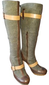 UGG Australia Heather Gray with Brown Trim Boots