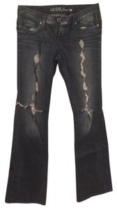 Guess Distressed Denim Flare Leg Jeans-Distressed