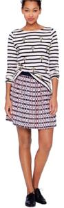 J.Crew Pleated Silk Mini Skirt Multi