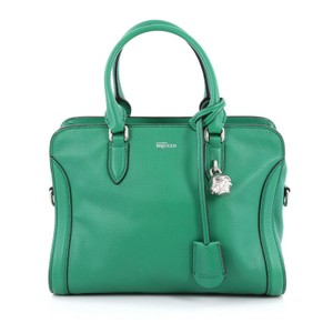Alexander McQueen Leather Tote in Green