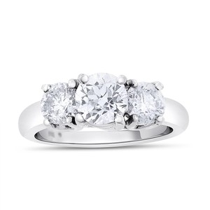 Other 2.05 TCW Natural Diamond Three Stone Euro Cut Engagement Ring 14k