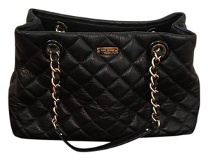 Kate Spade Quilted Gold Hardware Tote in black