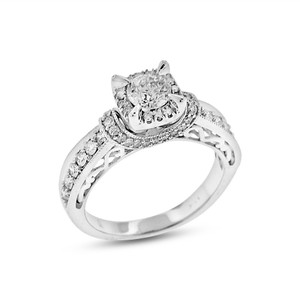 Other 1.08 CT Natural Diamond Unique Halo Setting Engagement Ring In Solid