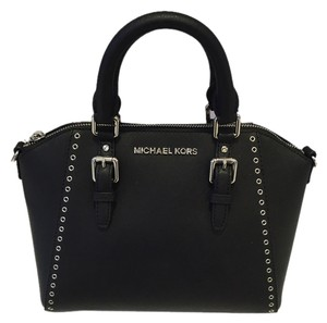 Michael Kors Ciara Saffiano Crossbody Satchel in Black