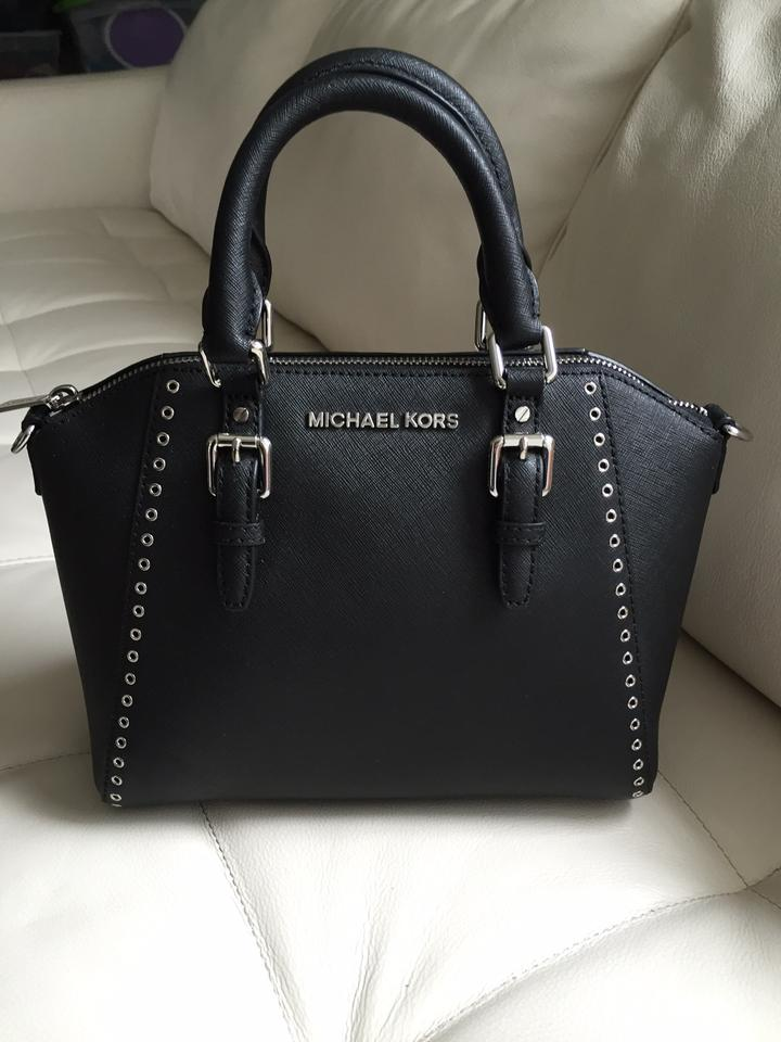Michael Kors Black Saffiano Leather Ciara Grommet