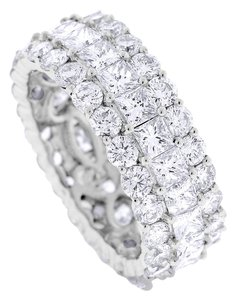 Other 6.34 Carat Natural Diamond Round & Princess Wide Eternity Band Ring