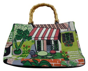 Bueno Collection Bueno Beaded Cafe Print Shoulder Bag