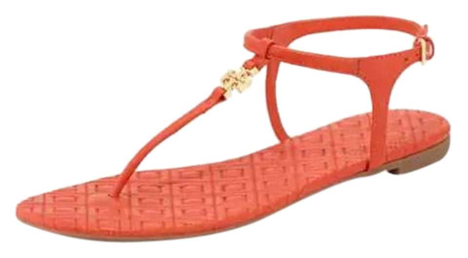 Tory Burch Red T Poppy Marion Quilted T-strap Poppy T Sandals e8e02d