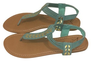 celebrity NYC Turquoise Sandals