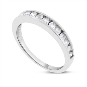 Other 0.50 CT Classy Natural Diamond Wedding Band in Solid 10k White Gold