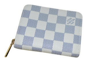 Louis Vuitton Louis Vuitton Zippy Coin Purse Wallet Damier Azur EXCELLENT