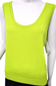St. John Santana Knit Shell Top Green