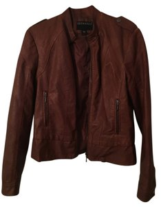 Bernardo Leather Medium Brown Leather Jacket