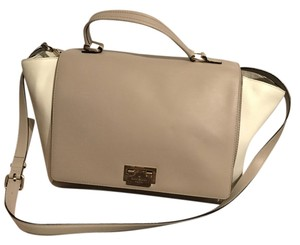 Kate Spade Top Handle Cross Body Satchel in Cream/Sand