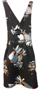 French Connection short dress Navy with Orange, Pale Blue and White accents Cut-out Lined on Tradesy
