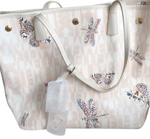 Furla Tote in Pink And White Pattern