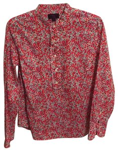 Liberty Art Fabrics for J. Crew Button Down Shirt Multicolor - red, white, blue, peach, purple