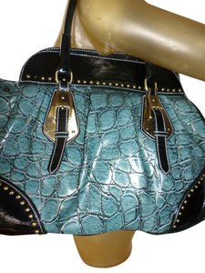 Satchel in Teal w/black