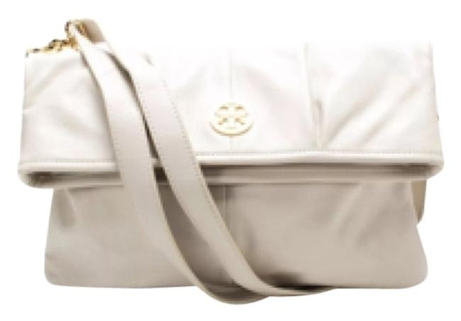 Item - Verona Foldover Beige Leather Messenger Bag