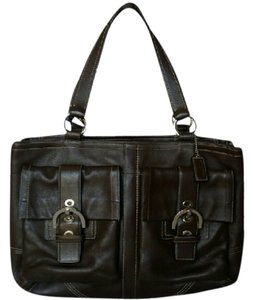 Coach Vintage Leather Brown Satchel in Chocolate Brown