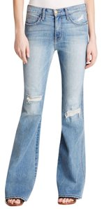 Current/Elliott Flare Leg Jeans-Distressed