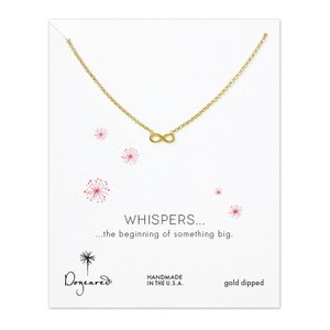 Dogeared Dogeared Whispers Infinity Necklace 18